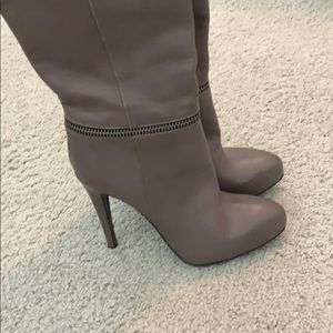 NWOB All Saints Taupe Leather Boots - Authentic
